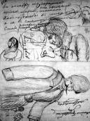 A sheet of sketches (1883)